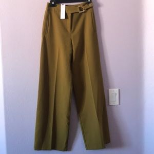 New olive green Topshop high waisted pants